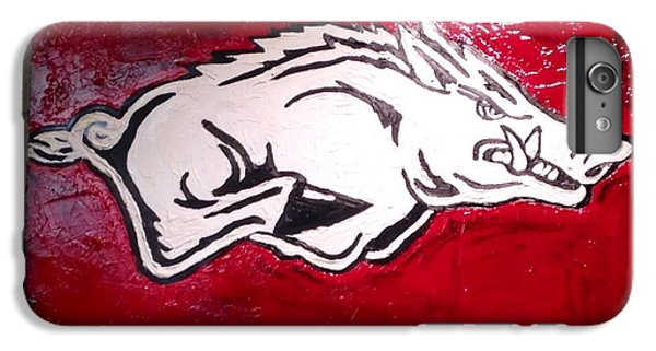 Razorback Painting Art IPhone 6s Plus Case by Dawn Bearden