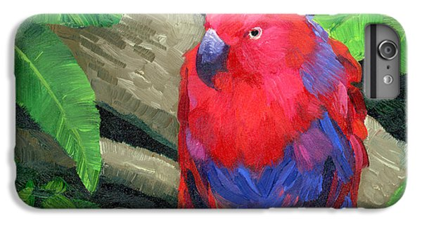 Parakeet iPhone 6s Plus Case - Red Bird by Alice Leggett