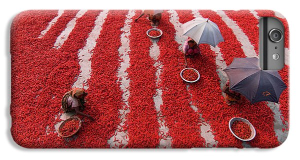 Umbrella iPhone 6s Plus Case - Red Chilies Pickers by Azim Khan Ronnie