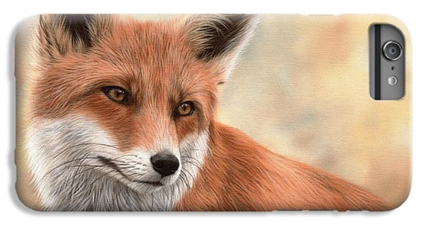 Red Fox Painting IPhone 6s Plus Case by Rachel Stribbling