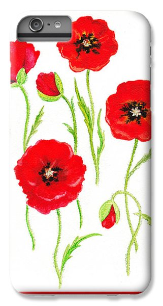 Red Poppies IPhone 6s Plus Case