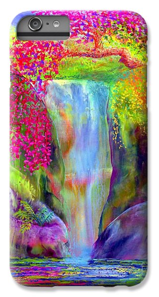 Impressionism iPhone 6s Plus Case - Waterfall And White Peacock, Redbud Falls by Jane Small