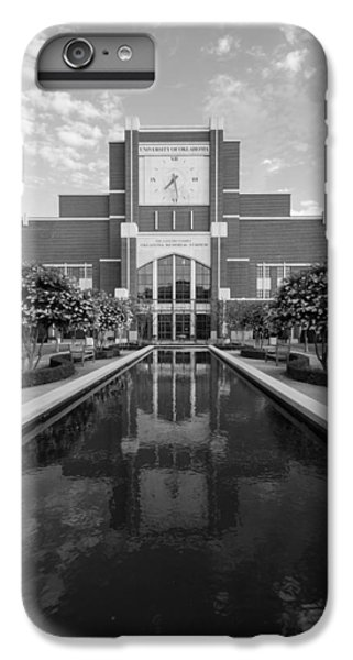 Oklahoma University iPhone 6s Plus Case - Reflecting Pond Outside Of Oklahoma Memorial Stadium by Nathan Hillis