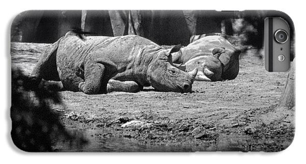 Rhinocerus iPhone 6s Plus Case - Rhino Nap Time by Thomas Woolworth