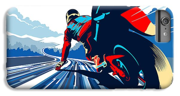 Motorcycle iPhone 6s Plus Case - Riding On The Edge by Sassan Filsoof