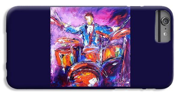 Coldplay iPhone 6s Plus Case - Rock Drummer Painting Available As An Art Print  by Mary Cahalan Lee- aka PIXI