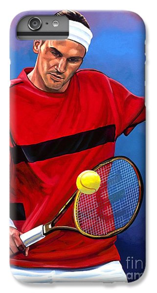 Roger Federer The Swiss Maestro IPhone 6s Plus Case by Paul Meijering