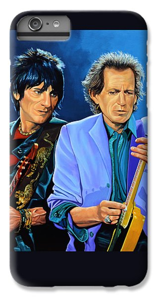 Goat iPhone 6s Plus Case - Ron Wood And Keith Richards by Paul Meijering