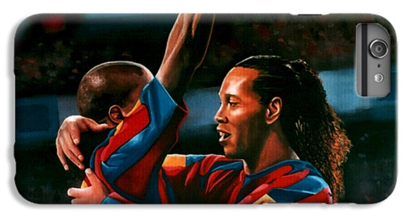Ronaldinho And Eto'o IPhone 6s Plus Case by Paul Meijering