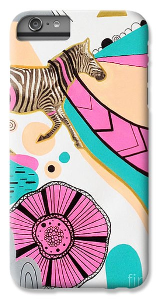Zebra iPhone 6s Plus Case - Running High by Susan Claire