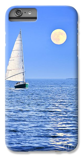 Boats iPhone 6s Plus Case - Sailboat At Full Moon by Elena Elisseeva