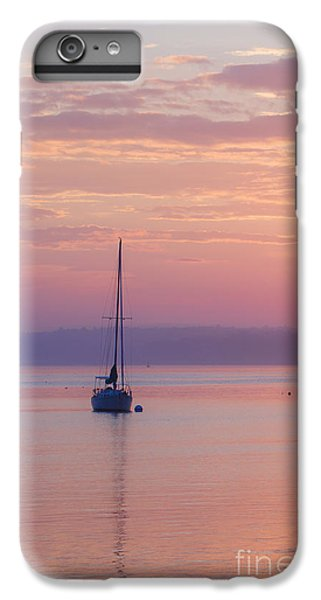 Ocean Sunset iPhone 6s Plus Case - Sailboat At Sunrise In Casco Bay Maine by Diane Diederich
