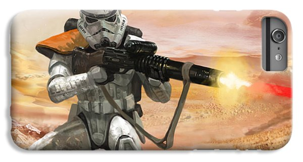 Star iPhone 6s Plus Case - Sand Trooper - Star Wars The Card Game by Ryan Barger