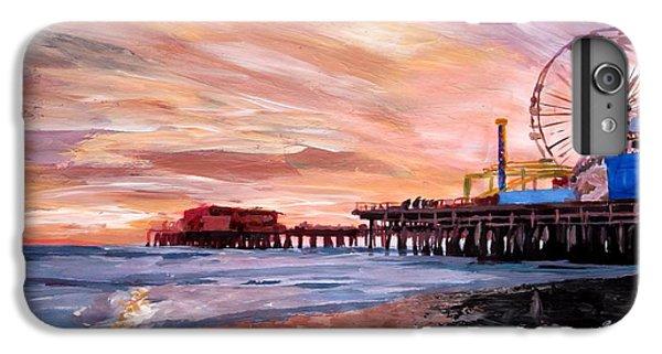 Santa Monica iPhone 6s Plus Case - Santa Monica Pier At Sunset by M Bleichner