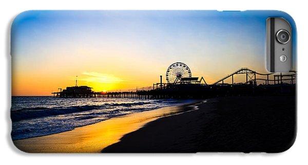 Santa Monica Pier Pacific Ocean Sunset IPhone 6s Plus Case by Paul Velgos