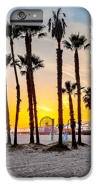 Los Angeles iPhone 6s Plus Case - Santa Monica Palms by Az Jackson