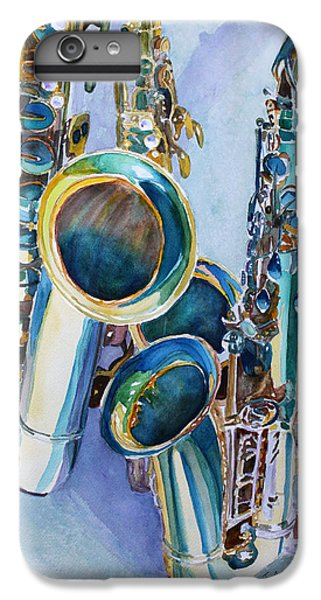 Saxophone iPhone 6s Plus Case - Saxy Trio by Jenny Armitage