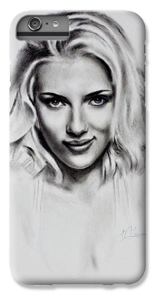 Scarlet iPhone 6s Plus Case - Scarlet Johansson by Mark Courage