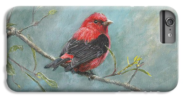 Scarlet iPhone 6s Plus Case - Scarlet Tanager by Dreyer Wildlife Print Collections