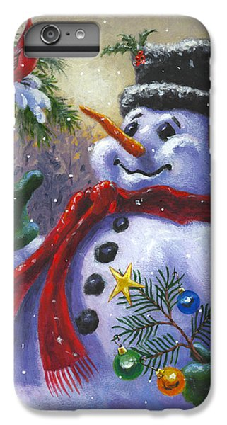 Cardinal iPhone 6s Plus Case - Seasons Greetings by Richard De Wolfe