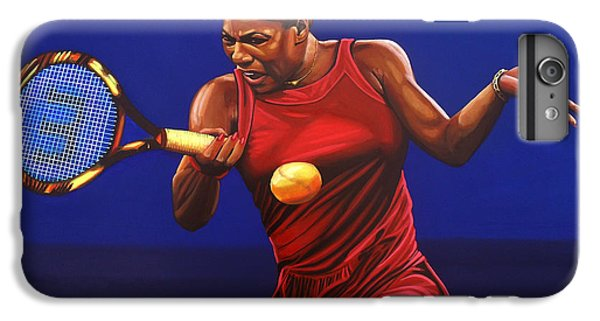 Serena Williams iPhone 6s Plus Case - Serena Williams Painting by Paul Meijering