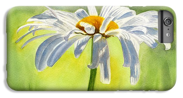 Daisy iPhone 6s Plus Case - Single White Daisy Blossom by Sharon Freeman