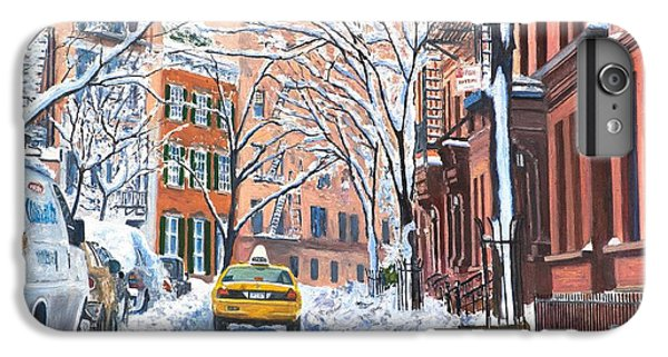 Times Square iPhone 6s Plus Case - Snow West Village New York City by Anthony Butera