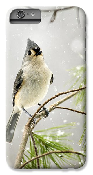 Snowy Songbird IPhone 6s Plus Case by Christina Rollo