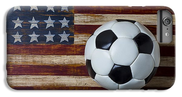 Soccer iPhone 6s Plus Case - Soccer Ball And Stars And Stripes by Garry Gay