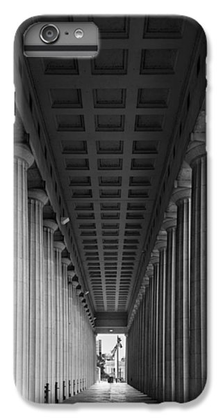 Soldier Field iPhone 6s Plus Case - Soldier Field Colonnade Chicago B W B W by Steve Gadomski