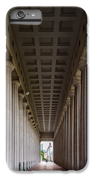Soldier Field iPhone 6s Plus Case - Soldier Field Colonnade by Steve Gadomski