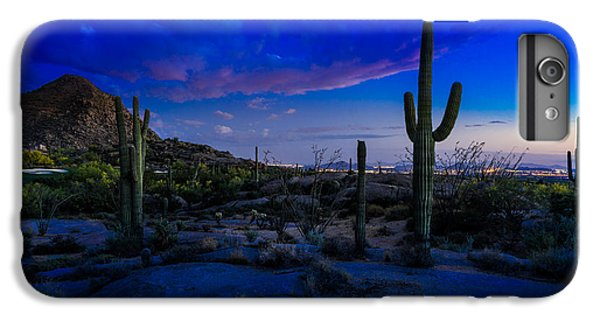 Desert Sunset iPhone 6s Plus Case - Sonoran Desert Saguaro Cactus by Scott McGuire
