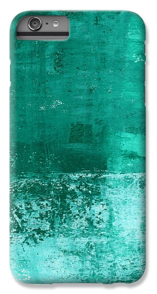 Wood iPhone 6s Plus Case - Soothing Sea - Abstract Painting by Linda Woods