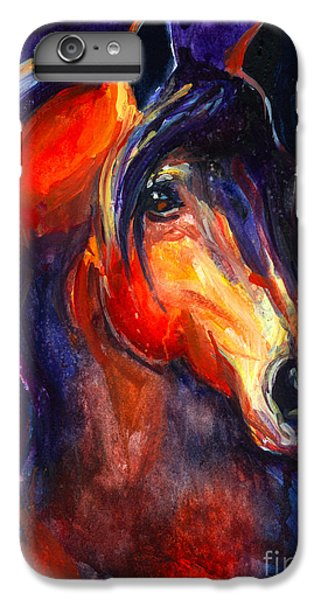 Soulful Horse Painting IPhone 6s Plus Case by Svetlana Novikova