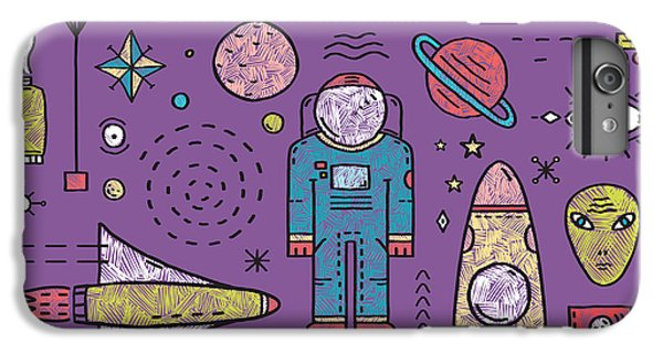Explosion iPhone 6s Plus Case - Space Planets Stars Cosmonaut Design by Popmarleo