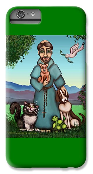 St. Francis Libertys Blessing IPhone 6s Plus Case by Victoria De Almeida