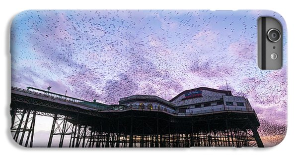 Starlings iPhone 6s Plus Case - Starling Flock Over Blackpool North Pier by Simon Booth