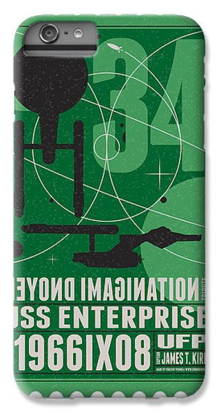 Starschips 34-poststamp - Uss Enterprise IPhone 6s Plus Case by Chungkong Art