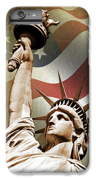 Central Park iPhone 6s Plus Case - Statue Of Liberty by Mark Rogan