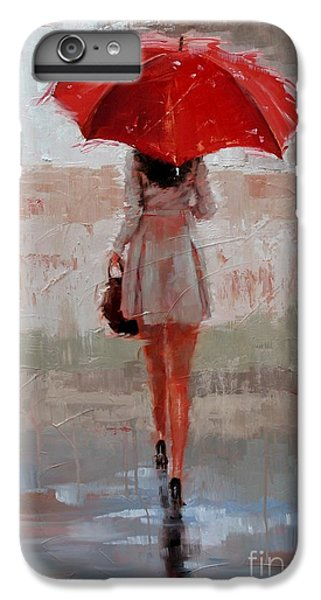 Umbrella iPhone 6s Plus Case - Stepping Out by Laura Lee Zanghetti
