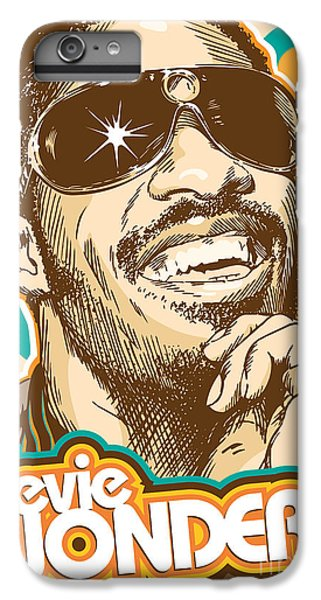 Rhythm And Blues iPhone 6s Plus Case - Stevie Wonder Pop Art by Jim Zahniser