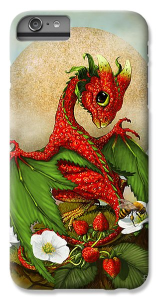 Dragon iPhone 6s Plus Case - Strawberry Dragon by Stanley Morrison