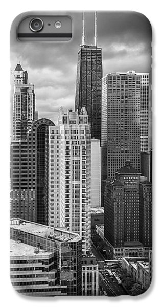 Hancock Building iPhone 6s Plus Case - Streeterville From Above Black And White by Adam Romanowicz