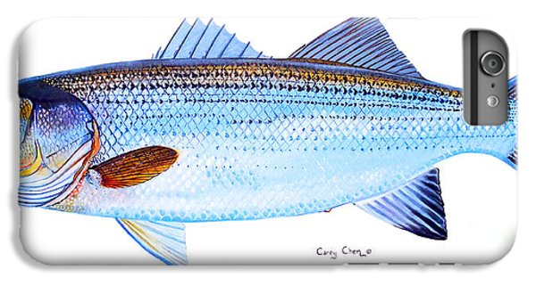 Fish iPhone 6s Plus Case - Striped Bass by Carey Chen