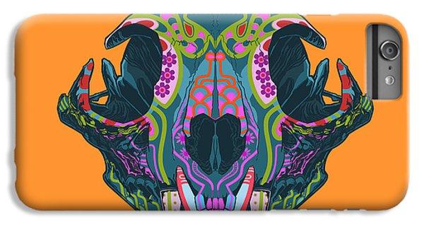 Folk Art iPhone 6s Plus Case - Sugar Lynx  by Nelson dedos Garcia
