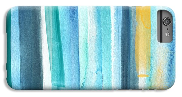 Los Angeles iPhone 6s Plus Case - Summer Surf- Abstract Painting by Linda Woods