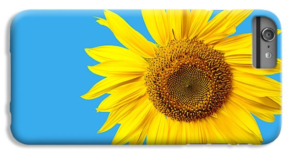 Sunflower iPhone 6s Plus Case - Sunflower Blue Sky by Edward Fielding
