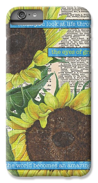 Sunflower iPhone 6s Plus Case - Sunflower Dictionary 2 by Debbie DeWitt