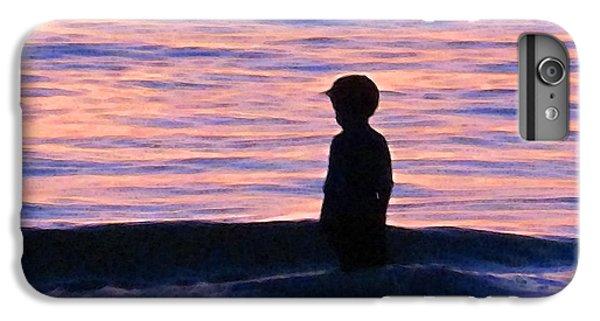 Ocean Sunset iPhone 6s Plus Case - Sunset Art - Contemplation by Sharon Cummings