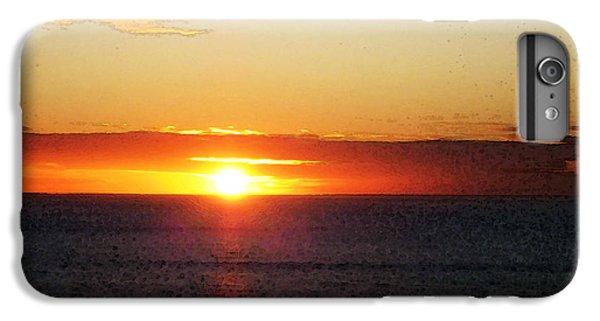 Ocean Sunset iPhone 6s Plus Case - Sunset Painting - Orange Glow by Sharon Cummings